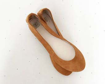 Ballet Flats Shoes. Leather Shoes. Low Heel Shoes. Ballerinas Shoes. Handmade Flats. Gift For Her. Tan Flats. Wedding Flats. Italian Leather