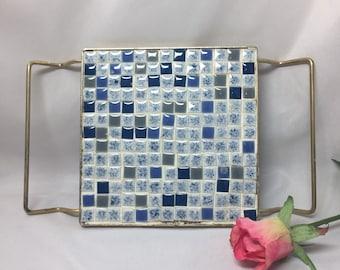 Retro Blue Tile Trivet