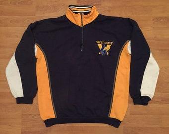West Coast Eagles Vintage AFL 1/4 Quarter Zipper Windcheater Mens 102 Medium