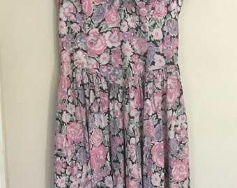Vintage Laura Ashley Floral Dress