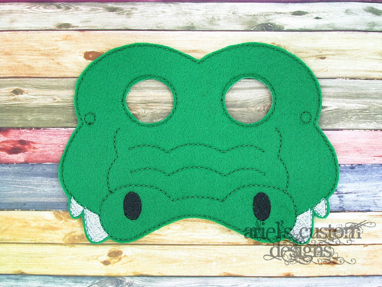 Alligator Krokodil Maske Dschungel Tierschablone Dschungel