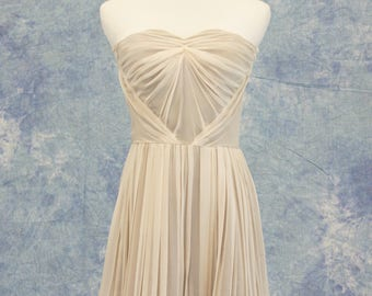 Pale Pink Grey Bridesmaid Dress Short Formal Bat Mitzvah Homecoming SAMPLE SALE!
