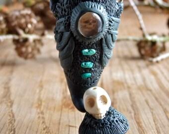Desert Skull Portable Vessel Pendant