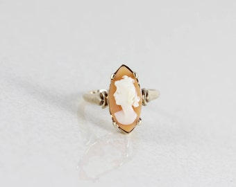 10k Yellow Gold Cameo Ring Size 5