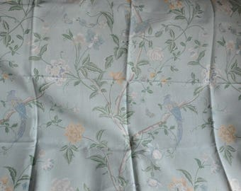 Laura Ashley fabric Floral Birds Butterflies  2006