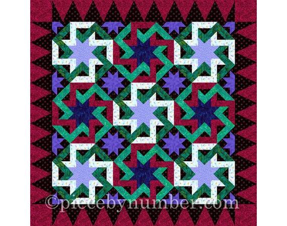 Octagonia quilt block pattern paper pieced quilt patterns : pdf quilt patterns - Adamdwight.com