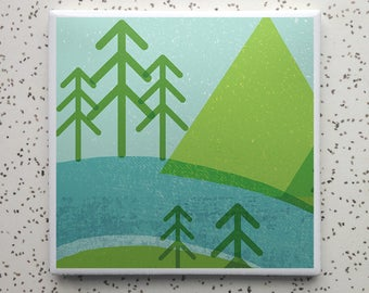 National Parks Tile Coaster