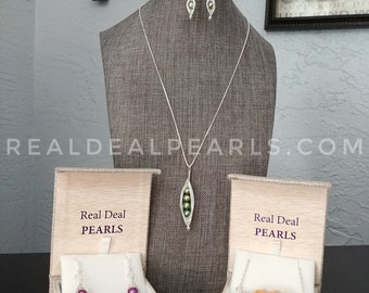 Peas in a Pod | Handmade Pea Pods | Necklace and/or Earrings