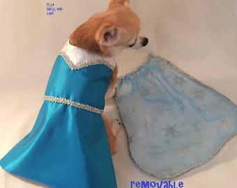 Custom Frozen dog dress, Queen Elsa dress, Disney Inspired dress, Halloween dog dress, Frozen dress,  Princess dog dress, Fancy dog dress