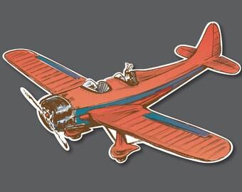 """9.5"""" Vintage Airplane Cutout Decoration"""