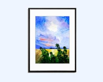 Landscape printable art, landscape print, printable wall art, landscape poster, INSTANT Download, nature print poster