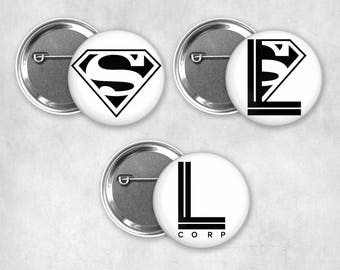 1.25 inch Supercorp Pinback Buttons