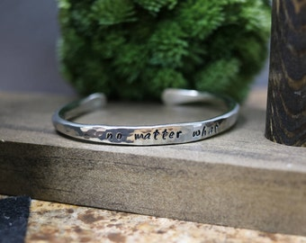 PERSONALIZED Hammered Sterling Silver Signet Cuff Bracelet