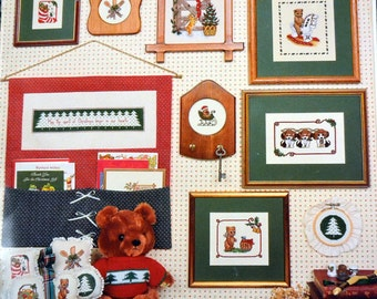 """Vintage  Canterbury Designs  """"Christmas Medley"""" Counted Cross Stitch Book 36"""