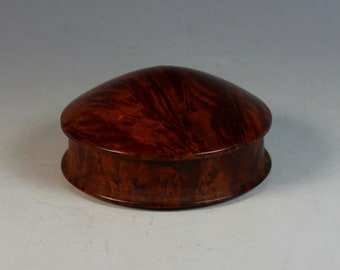 Vintage Amboyna Burl Wood  Desk or Vanity Box