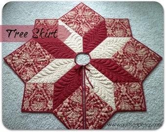 Star Medallion Tree Skirt Quilt Pattern