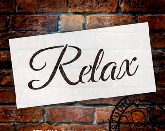 Relax - Word Stencil - Select Size - STCL1239 by StudioR12