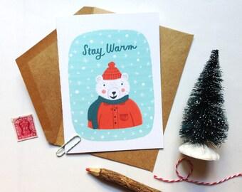 Stay Warm Polar Bear Card
