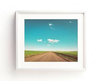 """landscape, landscape photograph, cloud, large art, large wall art, colorful, summer, canvas art, large canvas art, print - """"Summer Horizons"""""""