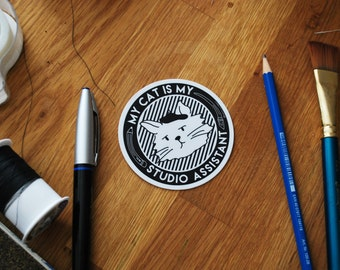 My Cat Is My Studio Assistant - Sticker