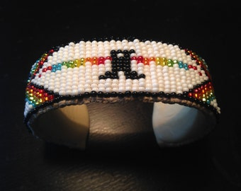 Native American style Loom Beaded Cuff Bracelet