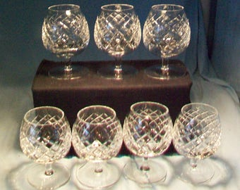 Seven Crystal Brandy Snifters