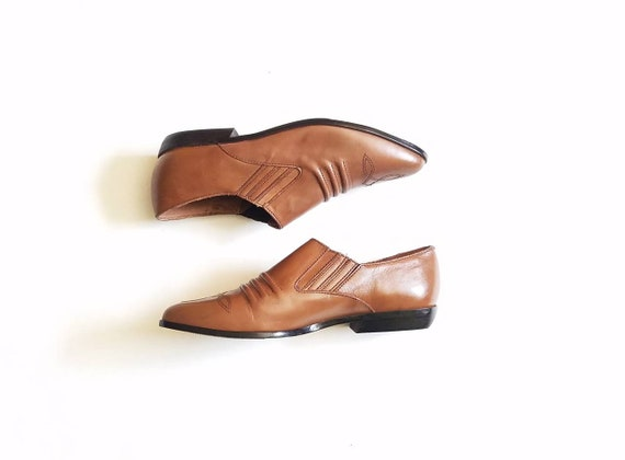 8 Leather Ankle Street Pointy 5 Booties Hipster Slipon Ellemenno Classic Womens Toe Bootie Vintage Fashion Oxfords Boho Fall Brown Style X8S5WP