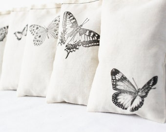 7 Butterfly Sachets, Unique Gift for Wife - Cotton Anniversary, Hygge Decor for Her