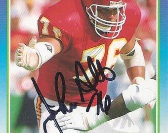 John Alt AUTOGRAPHED Football Trading Card (1990 Score #176) Kansas City Chiefs