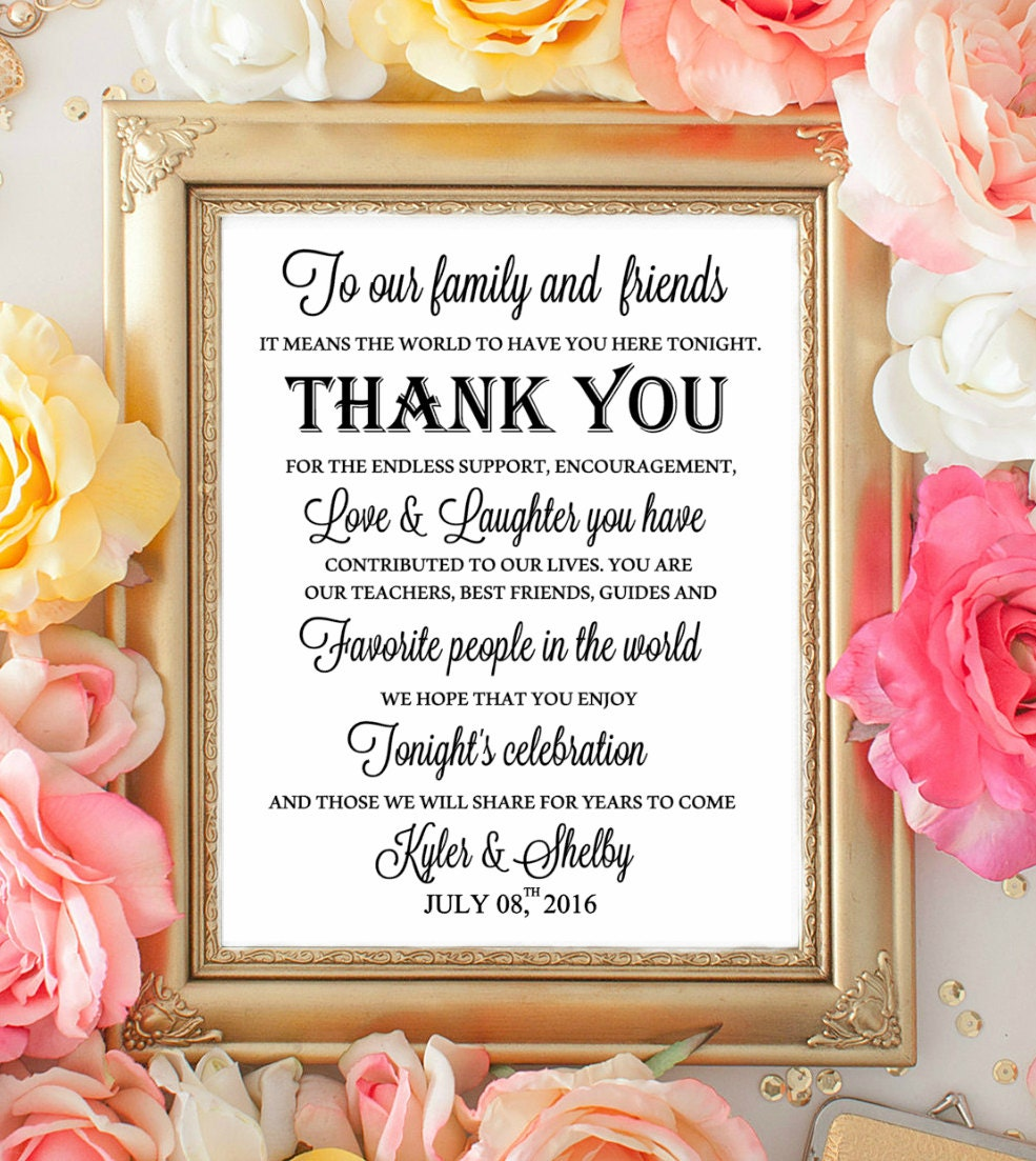 Wedding table sign wecome thank you signs to our family zoom junglespirit Gallery