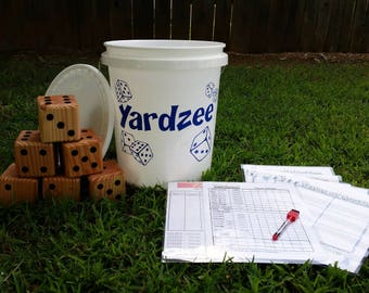 Yardzee, Farkle, Cootie, Lawn Dice, Yard Game, Yard dice, Lawn Game, Outdoor Wedding, family game, outdoor game, Family fun