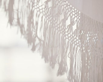 """Photograph of Vintage Lace Bed Canopy - """"View from the Bed"""", neutral, white, minimalist, fresh, modern, cottage chic, shabby chic"""