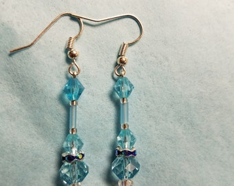 Cool as ice. Beautiful blue glass beads.