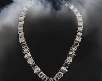 Elvira's Gothic Jewel Collar Necklace, Mistress of the Dark, Halloween Necklace, Skull Necklace, Gothic Necklace, Goth Jewelry EL_N112