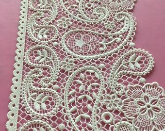 Delicate, Edible Lace, Sugar Lace, Cake Lace, Vintage Pretty Paisley Design