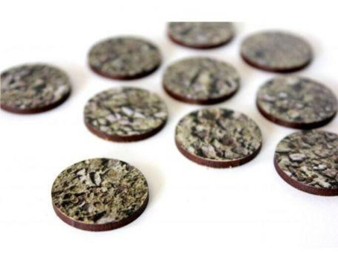 Pre-Painted Bases: 25mm Stones (10) - Bandua Wargames