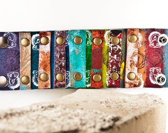 Stocking Stuffer Turquoise Multi Color Leather Jewelry