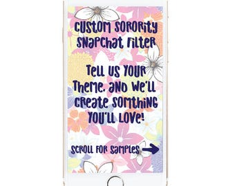 Sorority snapchat filter, rush week snapchat filter, bid day snapchat filter, custom sorority snapchat filter, greek snapchat filter