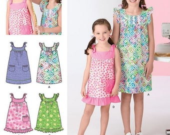 Child's and Girl's Dress Learn to Sew Sewing Pattern - Simplicity Learn to Sew Sewing Pattern - New and Uncut
