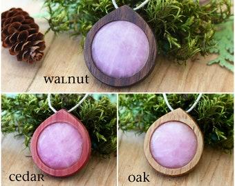 Rose Quartz Necklace, Rose Quartz Crystal Jewelry, Rose Quartz Pendant