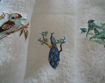 embroidered cotton towel