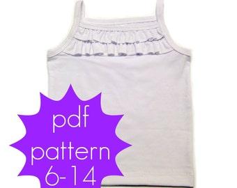 Shoreline Knit Tank - PDF Sewing Pattern - nb - 5t or 6 - 14