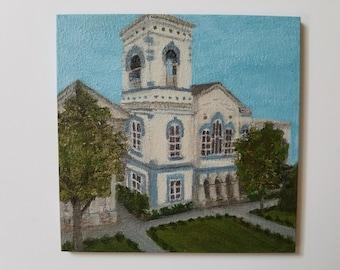 Elmira Courthouse - Acrylic painting - Small art - New York - NY