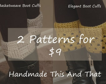 INSTANT DOWNLOADS - Boot Cuff PATTERN - leg warmers, boot socks, women boot cuffs, crochet,  Sale