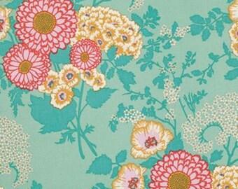 Joel Dewberry Botanique Fabric   Botanical Floral Fabric   Teal Boho Floral   Wholesale Fabric