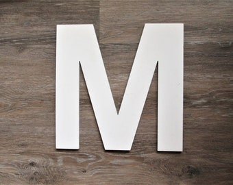 Industrial Letter M, 12 Inch Vintage Metal Letter M, Gallery Wall Letter
