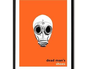Zapatos del hombre muerto inspiraron película Poster Art Print