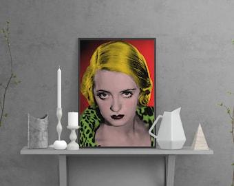 Art print - Bette Davis poster - Bette Davis print-  Giclée Art Print - A3 -  Bette Davis - Cinema poster