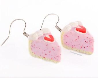 Earrings Vanilla Strawberry Pie