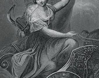 Goddess Diana Devotional Candle